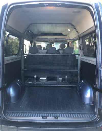 Spacious 8 seater minibus hire
